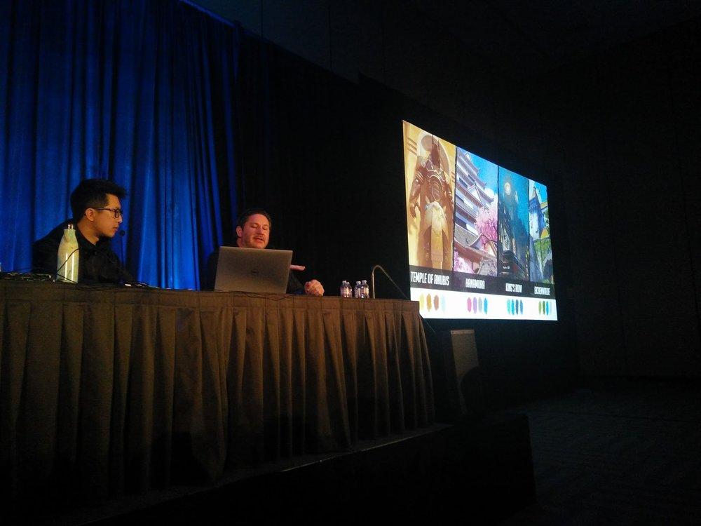Le palette grafiche associate ad alcune delle mappe più famose di  Overwatch .