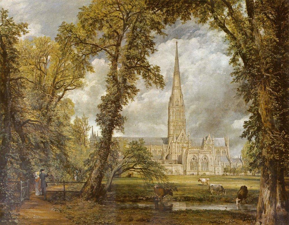 Una qualche cattedrale (John Constable).