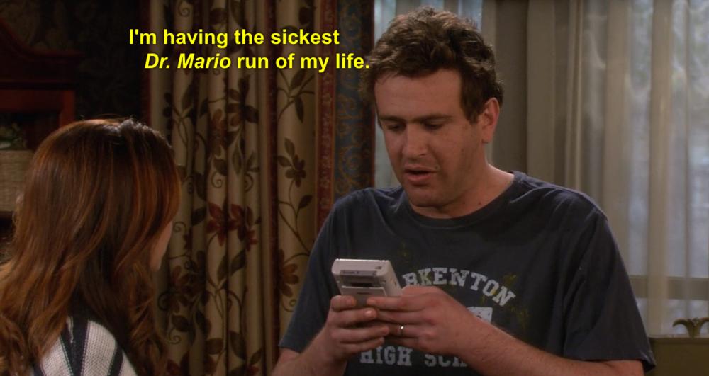 Marshall affronta i problemi della vita giocando a Dr. Mario.