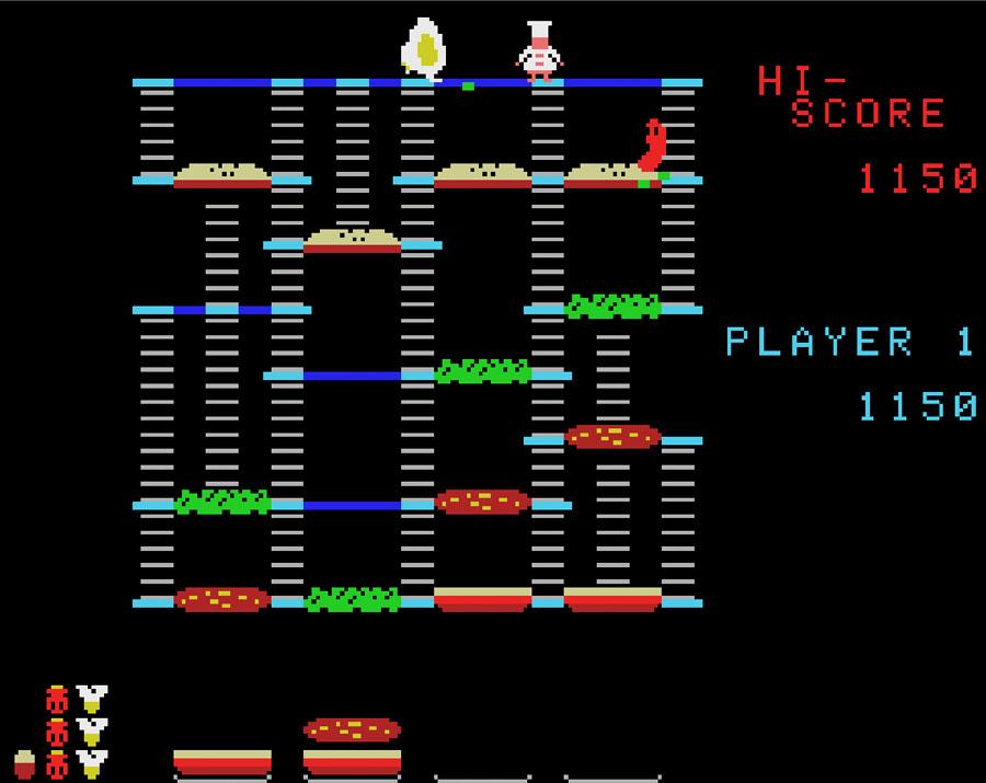 Il contenuto del floppy, Burger Time  per Colecovision.