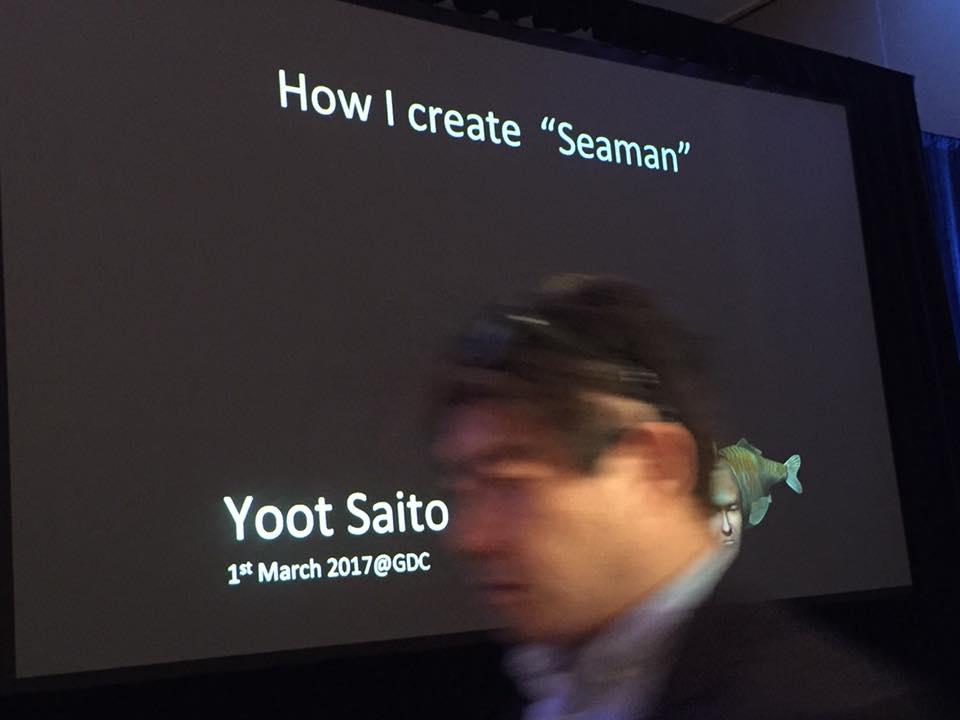 Saito che mi photobomba la foto di Seaman. So meta!
