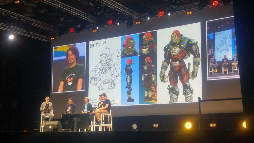 Un confronto fra il modello 3D di Ganondorf e il personaggio come appare nelle illustrazioni promozionali dell'epoca.