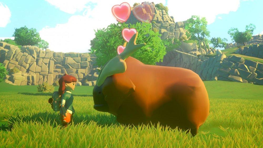Questo è un Groffolo, un po' porcello un po' bufalo, adorabile come qualsiasi altra creatura che popola il mondo di Yonder: The Cloud Catcher Chronicles.