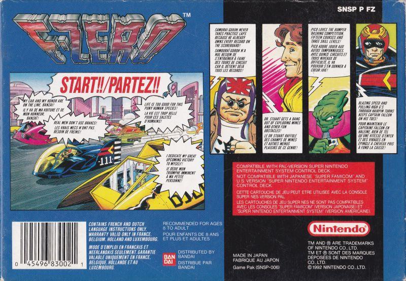 Il retro di copertina della versione PAL.