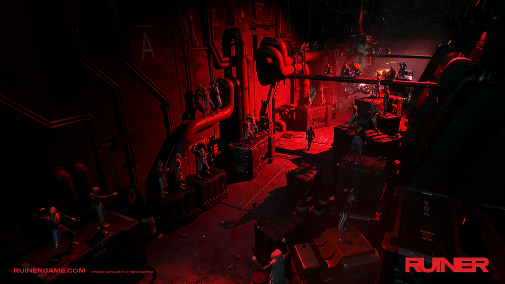 Le tinte perennemente rosse di gran parte del gioco sono affascinanti ma alla lunga stancano.