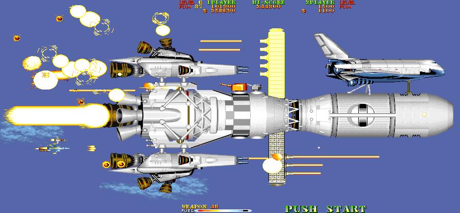 Il razzo con annesso Space Shuttle. Uno fra i boss più cazzuti del gioco.