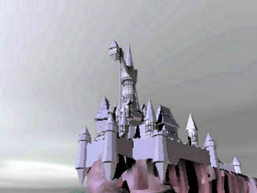 - Non tutti sanno che l'assenza di texture sul castello della presentazione non è un