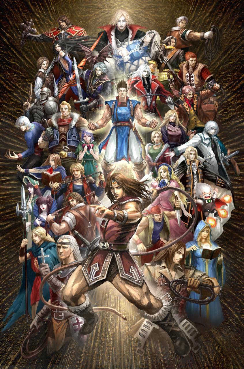 L'intero cast di eroi di  Castlevania .
