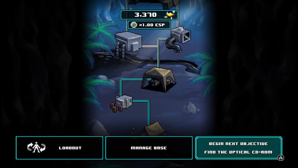 La graduale costruzione della nostra base è un altro riferimento alla saga di  Metal Gear.