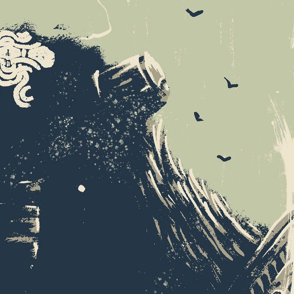 Particolare di un'illustrazione di Marie Bergeron (la stessa che ho infilato in cima al pezzo).