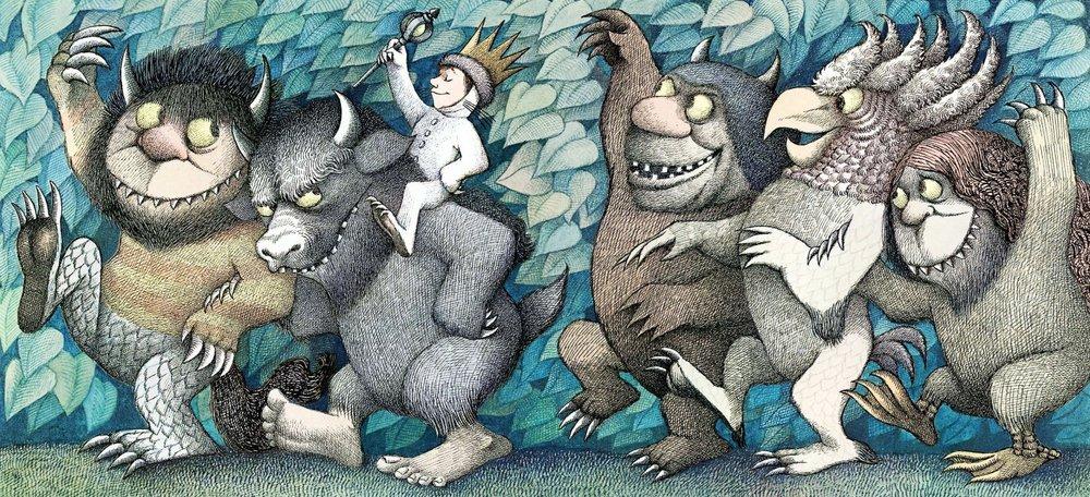 I colossi mi hanno sempre ricordato i mostri di Maurice Sendak.