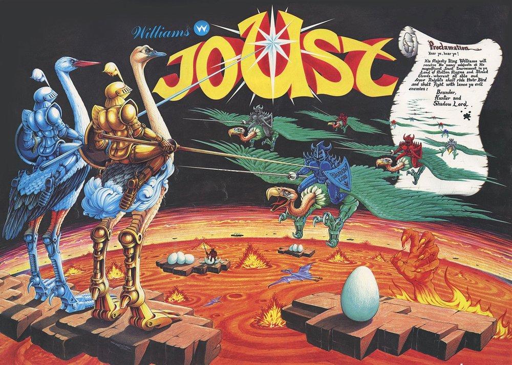 Il mio amico ricco Davide possedeva  Joust  su Atari 2600. All'epoca scassavo le balls perché non era uguale all'arcade, esposto regalmente nel mitico bar di Galileo.