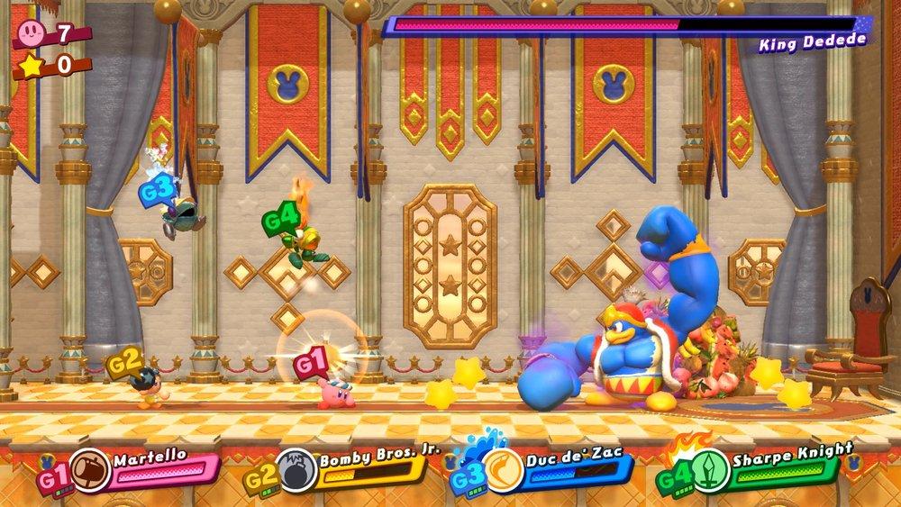 King DeDeDe con gli steroidi è uno dei boss, e naturalmente lo si può anche controllare, dopo averlo sconfitto!