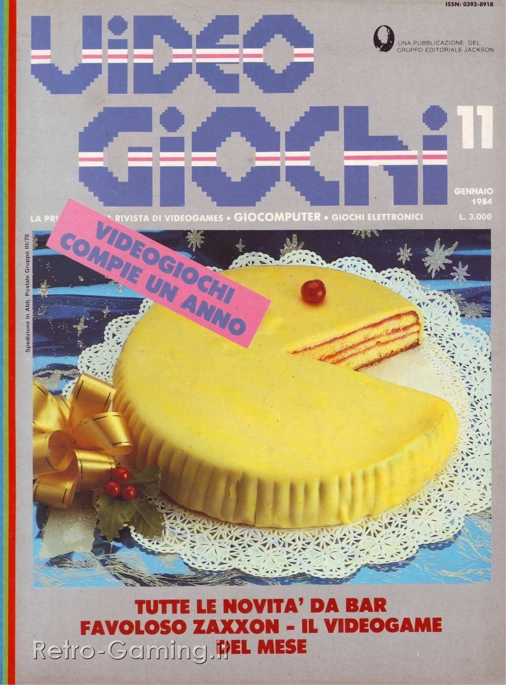 E per il primo anno della rivista  Videogiochi  indovina un po' la torta che forma ha.