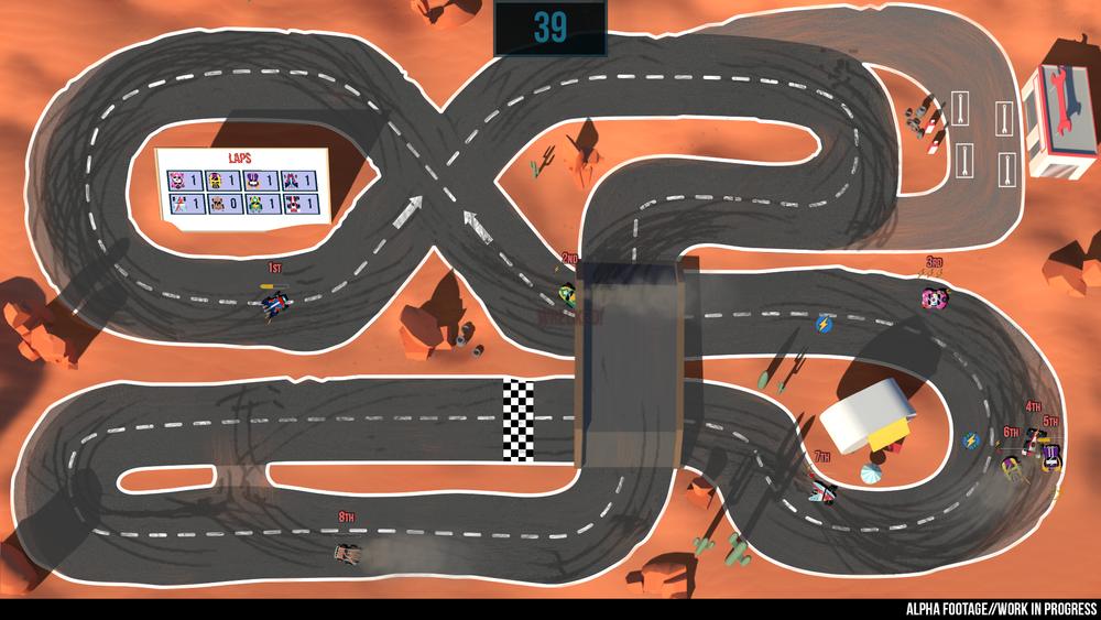 Che poi, il layout delle piste sarebbe anche carino e puccettoso.