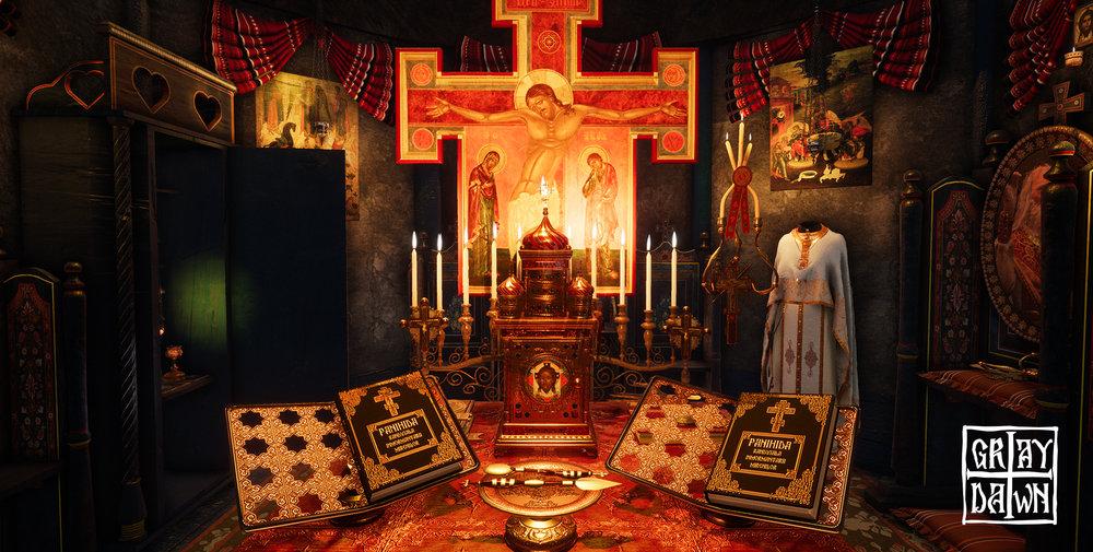 L'iconografia sacra ortodossa conferisce una forte personalità al gioco.