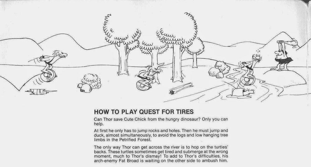 Le (deliziose) istruzioni della versione per ColecoVision di  B.C.'s Quest for Tires .