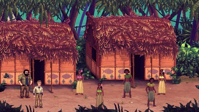 Il villaggio di  Chi Trova un Amico Trova un Tesoro  è tale quale a quello del film, con tanto di pirati teppisti da malmenare.
