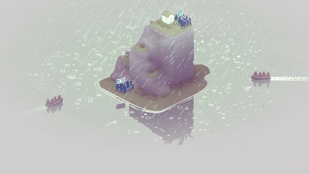 La pioggia non modifica gli scontri ma è comunque molto bellina