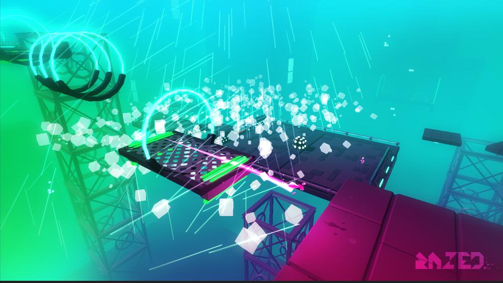 È tutto un neon a perdita d'occhio, pare di essere in  Cyberpunk.