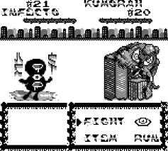 La schermata di combattimento con visuale laterale.