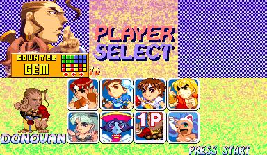 Ogni personaggio ha un proprio pattern con cui manda le gemme temporizzate all'avversario. Questo aiuta a distinguerli e rendere centri scontri più interessanti di altri.