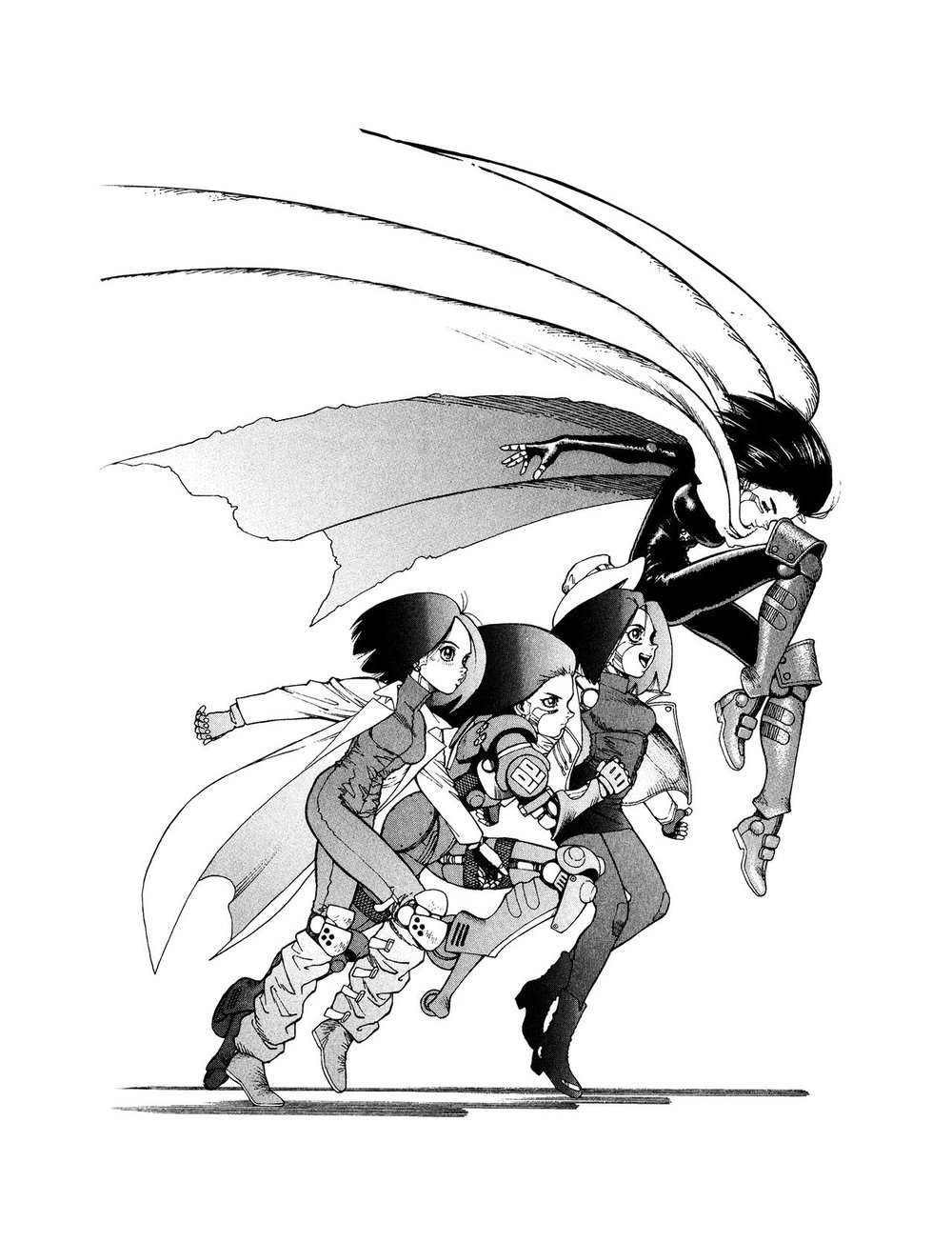 L'evoluzione di Alita lungo gli archi narrativi del manga originale.