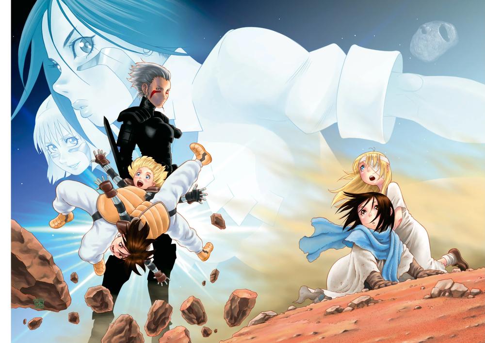 Alita Mars Chronicle , iniziato nel 2014, funziona sia da prequel che da proseguimento di  Last Order .