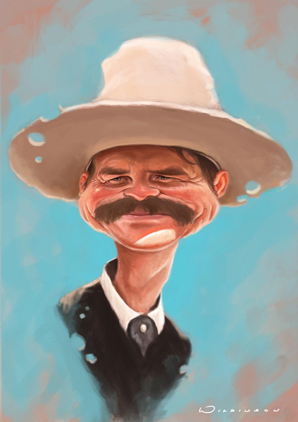 Bill Paxton Caricature