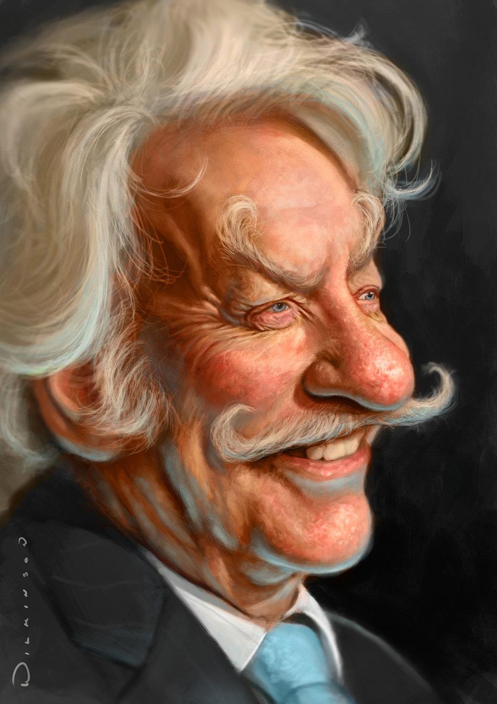 Donald Sutherland Caricature