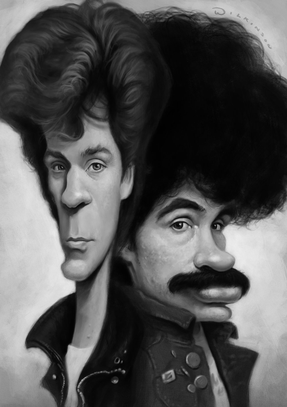 Hall and Oates Caricature