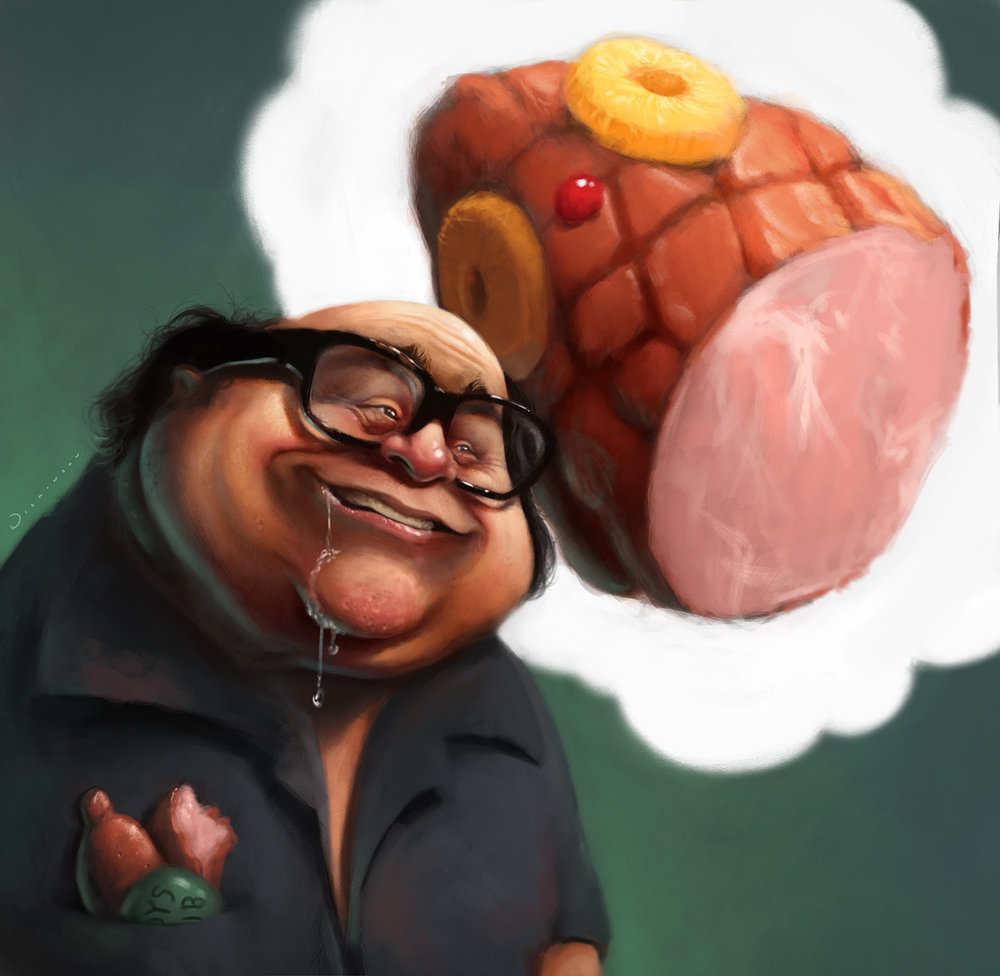 Frank Reynolds (Danny DeVito) Caricature