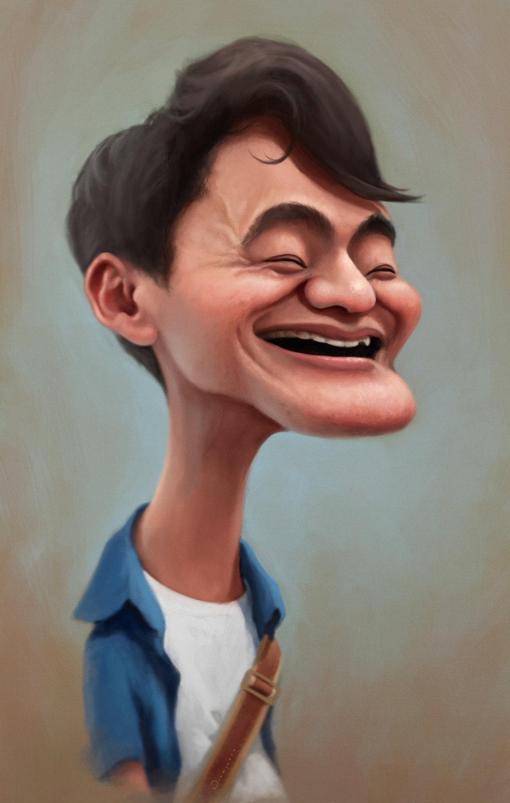 Ainori Shy boy caricature
