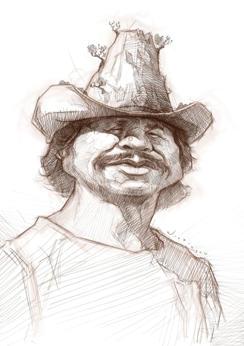 Charles Bronson Caricature Sketch