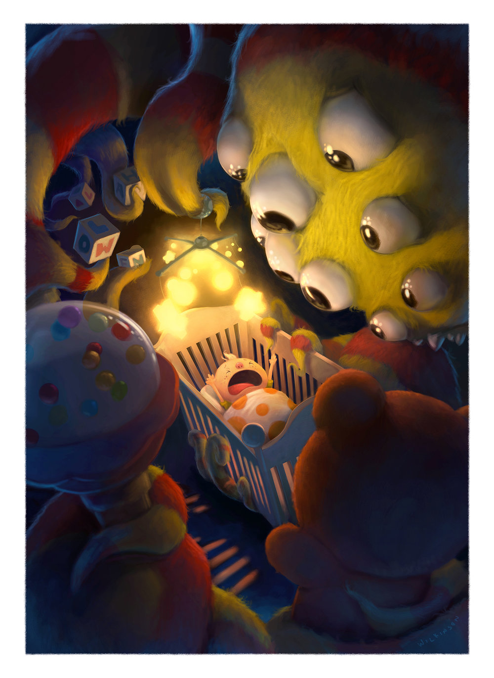 Misunderstood Monster Halloween Illustration