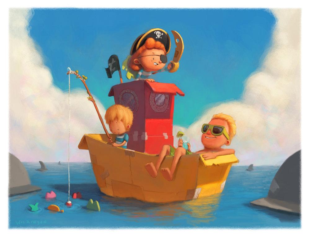 Cardboard Adventures - Pirate Boat