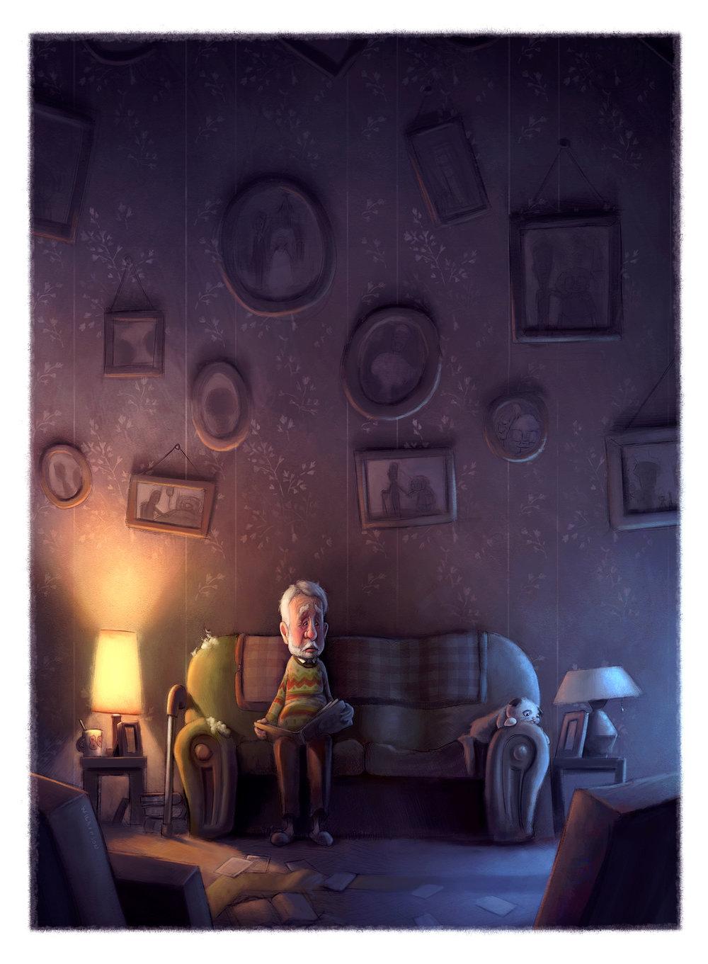 Goodbye Grandma Illustration