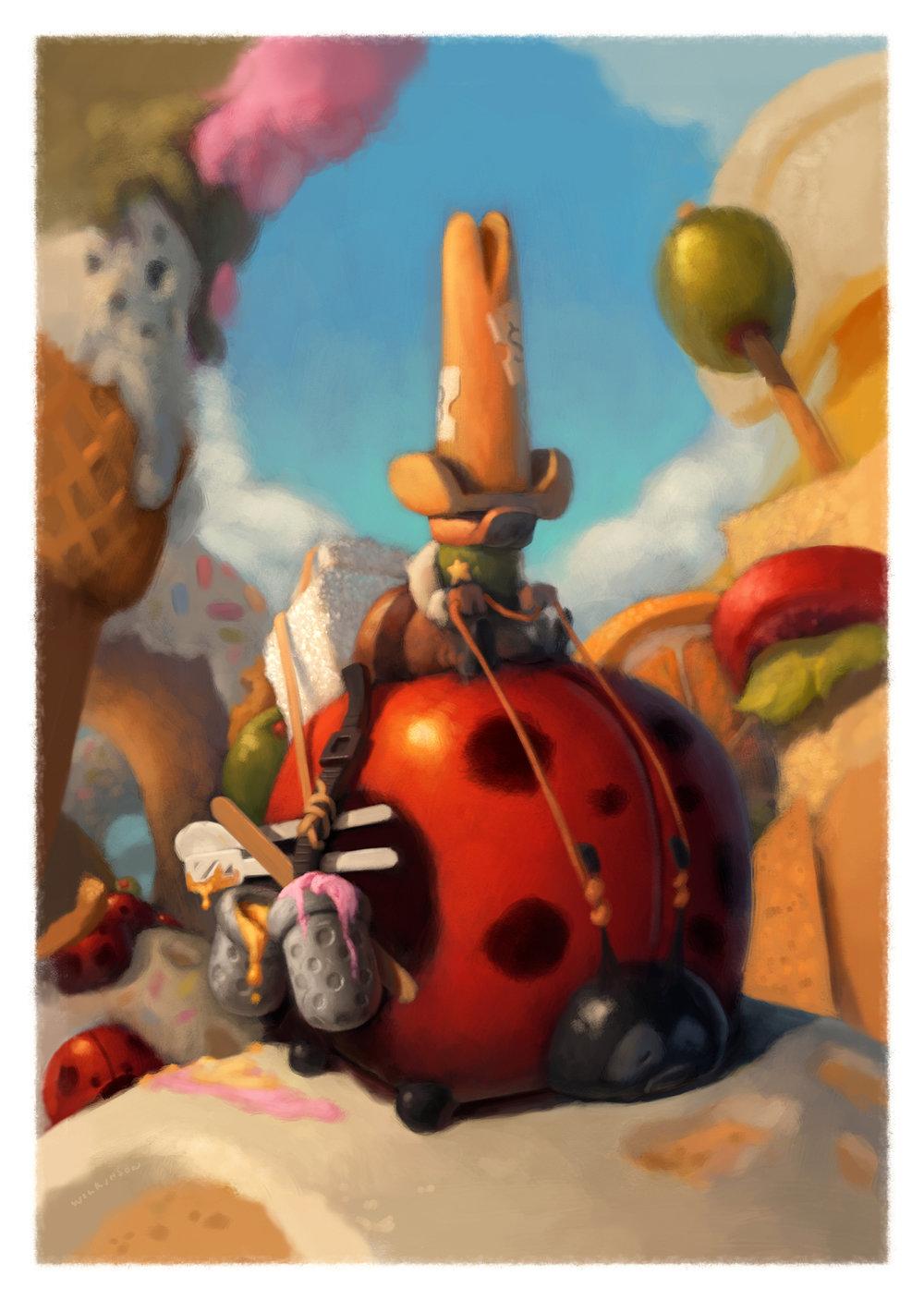 Sugar Ants, Children's Illustration
