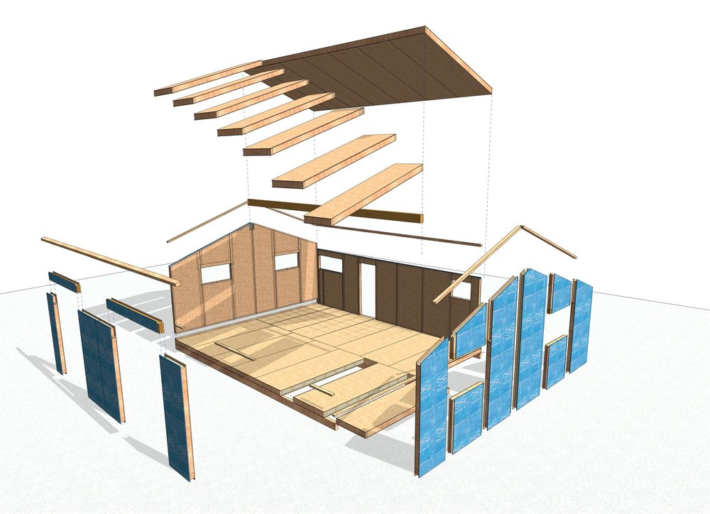 115mm Wall Panels R 4.5 with 165mm Roof and Floor Panels R7