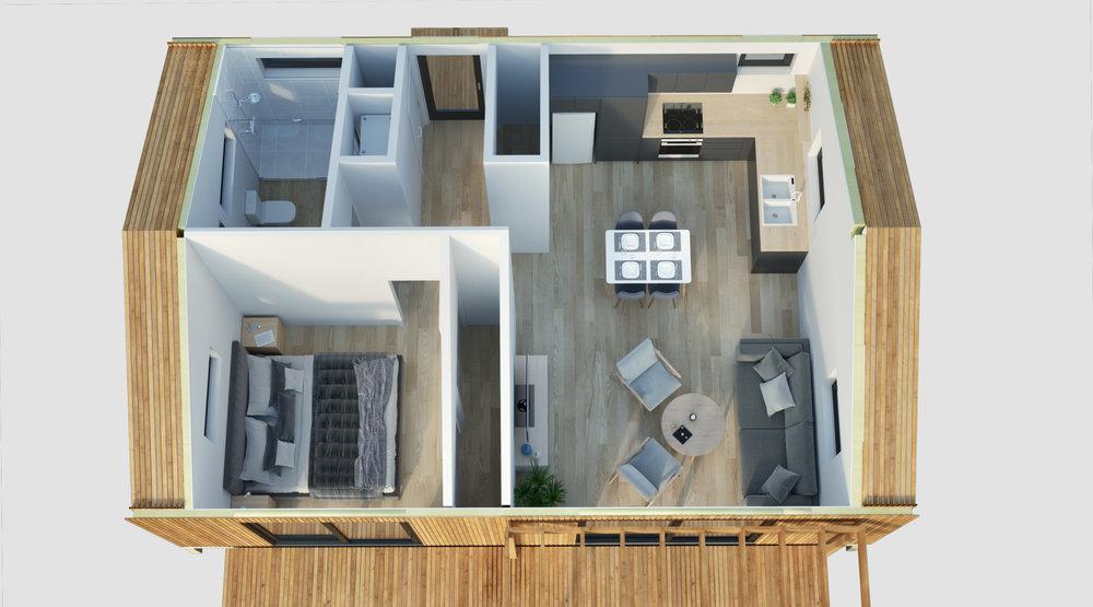 Sample floor plan. Internal fixings not included