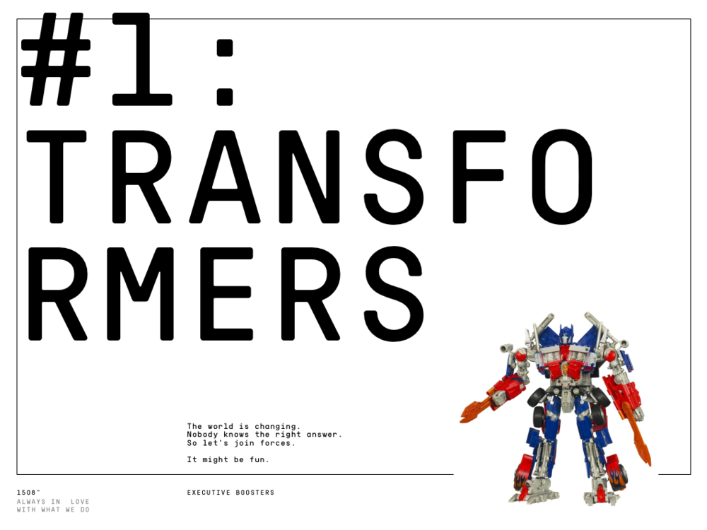Episode 1: Transformers (2017.01.10)
