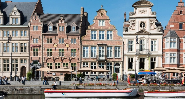 The Marriott Ghent on the historic Korenmarkt where once the world's grain trade was conducted.