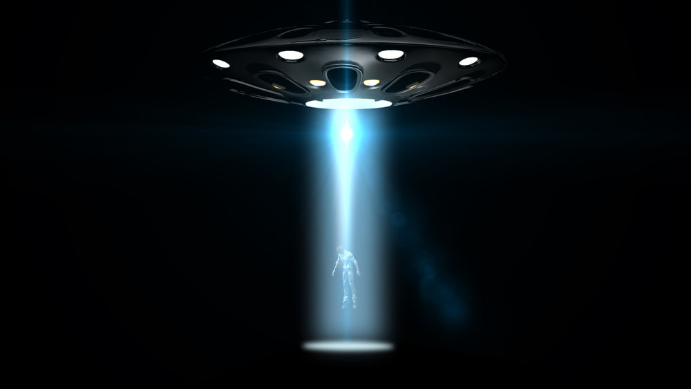 Artists impression of Alien Abduction (Fotolia - Riko Best)
