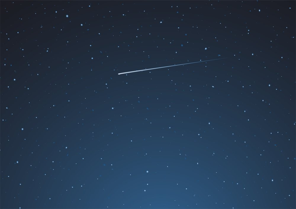 Typical meteor (shooting star) Fotolia (Photo by RATOCA)