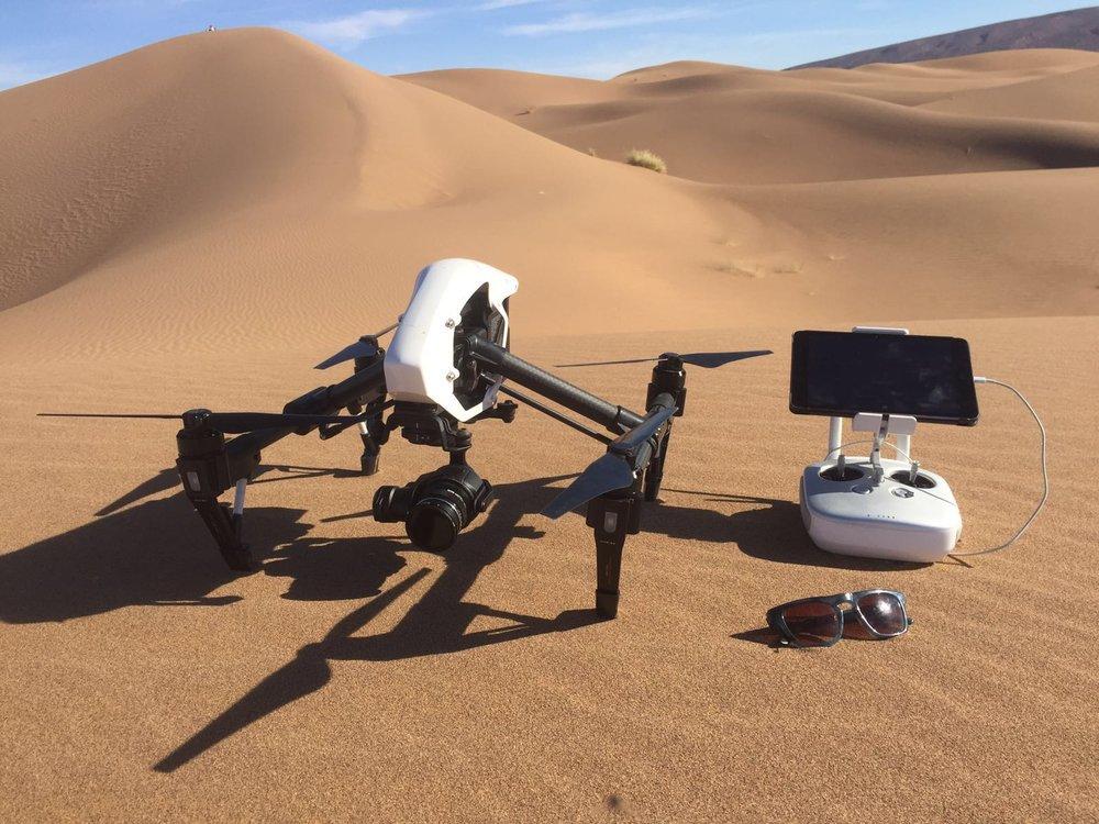 Drone inspire sahara desert