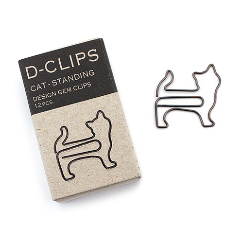 "<p><strong><a href=""http://amzn.to/1WWaXSi"" target=""_blank"">Midori Cat Paper Clips</a></strong>$5.50</p>"