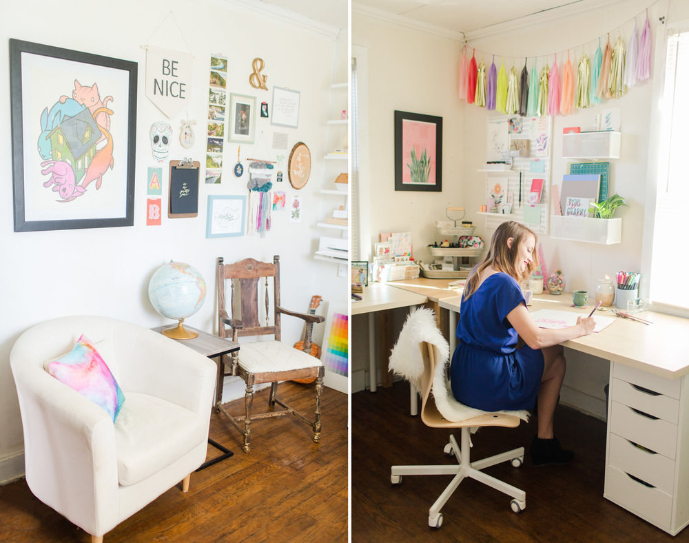 Ashley is currently based in Virginia's Blue Ridge Mountains and works out of a stunning studio in her home.