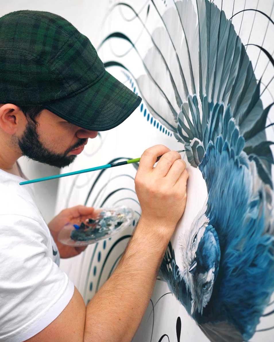 Jake Weidmann Bird flourish on Calligrafile