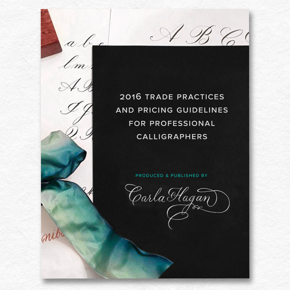 Pricing Guidelines For Professional Calligraphers