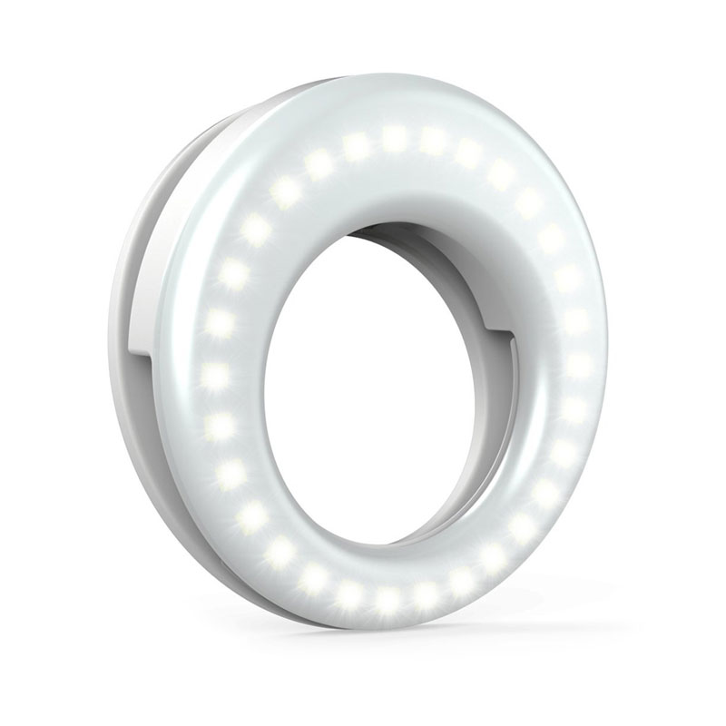 "<p><strong><a href=""http://amzn.to/2h1qvnh"" target=""_blank"">Clip-on Ring Light for Phone Photography</a></strong>$15.00</p>"